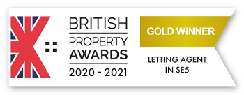 British Property Awards 2019 - Gold Winner - Estate Agent In SE5