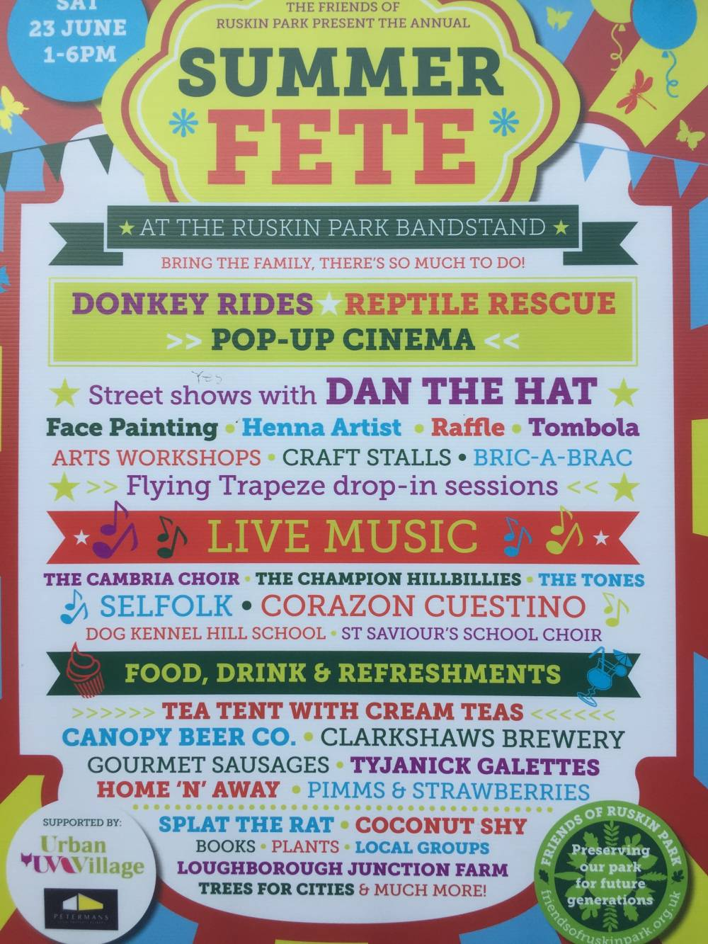 UVH Blog - EVERYONE IS INVITED TO THE RUSKIN PARK SUMMER FETE 2018